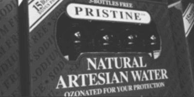 pristine drinking water